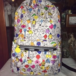 New Lesportsac Mr Men Little Miss Backpack